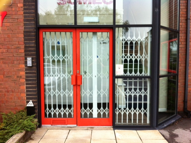 External view of the CX2 lattice gate system provided by Abacus Shutters