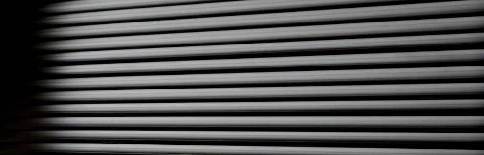 Steel Roller Shutter Close Up