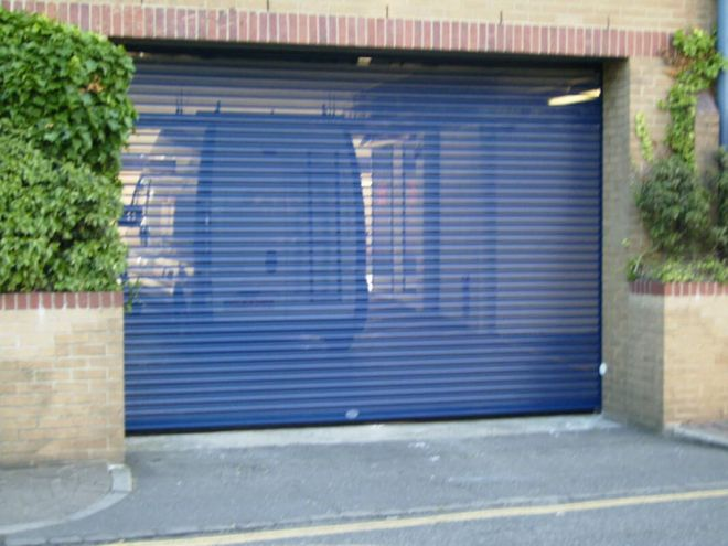 Steel Roller Shutter-Perforated-Blue