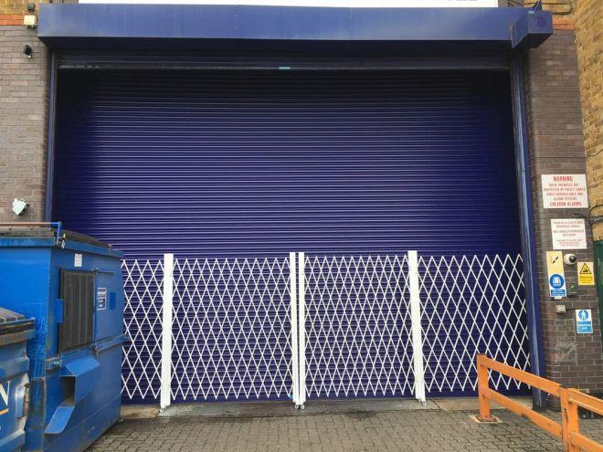 Steel Roller Shutter-Solid-Blue-Expander Gates