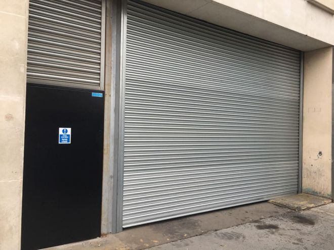 Steel Roller Shutter-Solid-Perforated Middle-Single Leaf Steel Door-Infill