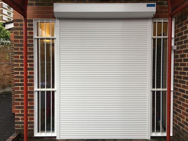 Aluminium Roller Shutter-White-Burglar Bars