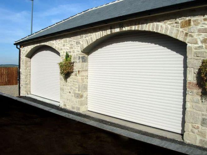 Garage Roller Shutter-Residential-Pair-White