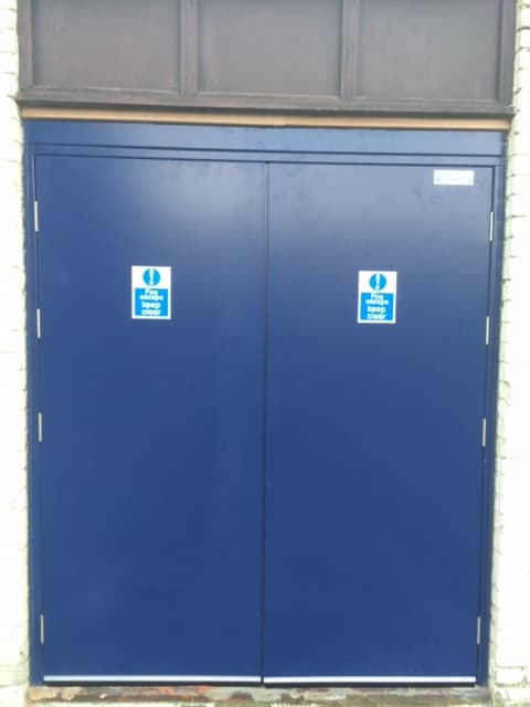Steel Door-SD3-Double-Fire Exit-Outside