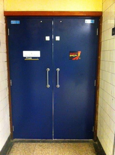 Steel Door Set-Double-Outside-Blue