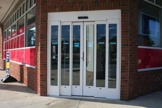 telescpoic sliding door-double